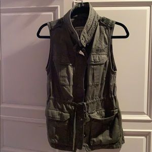 Abercrombie and Fitch Army Green Vest